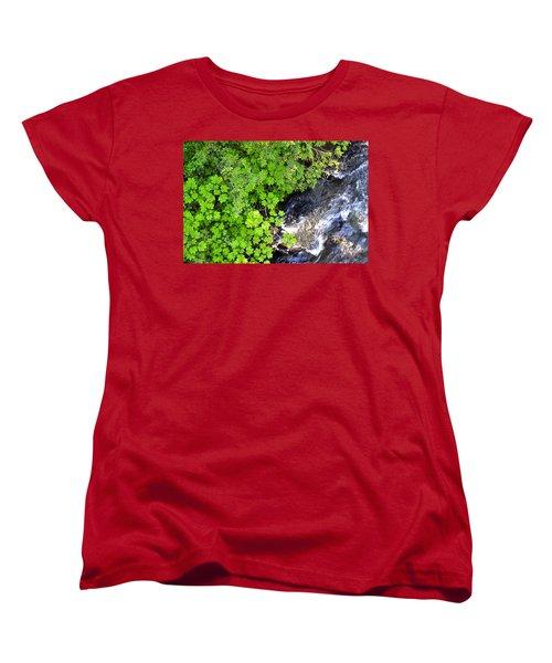 Fish Creek In Summer Women's T-Shirt (Standard Cut)