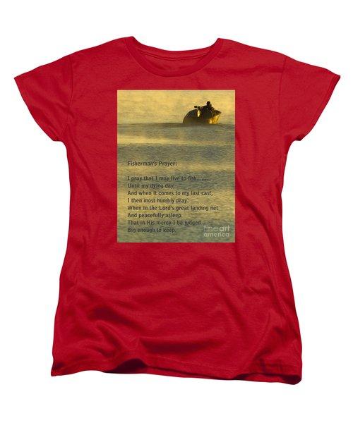 Fisherman's Prayer Women's T-Shirt (Standard Cut) by Robert Frederick