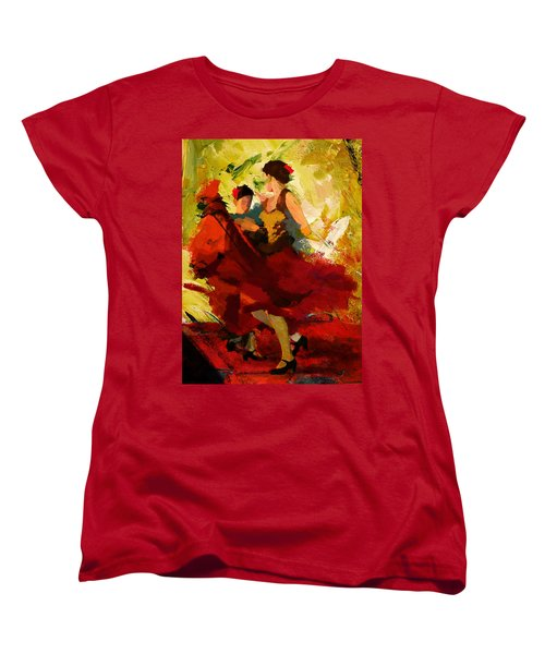 Flamenco Dancer 019 Women's T-Shirt (Standard Cut)