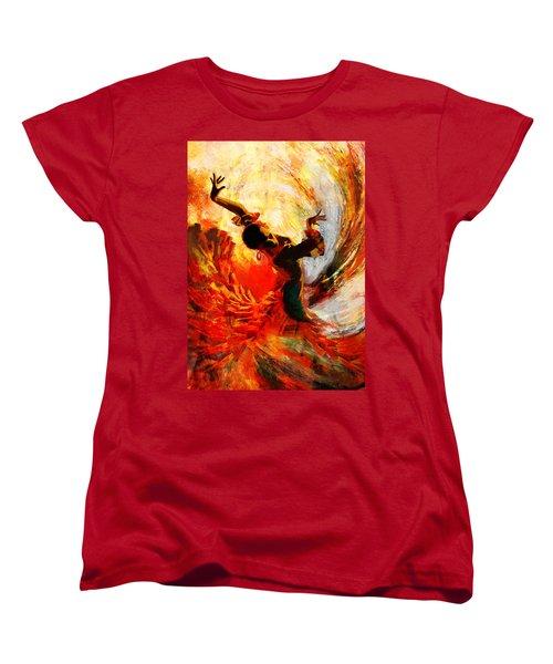 Flamenco Dancer 021 Women's T-Shirt (Standard Cut)