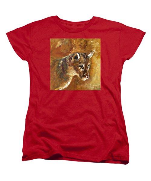 Florida Panther Women's T-Shirt (Standard Cut) by Karen  Ferrand Carroll