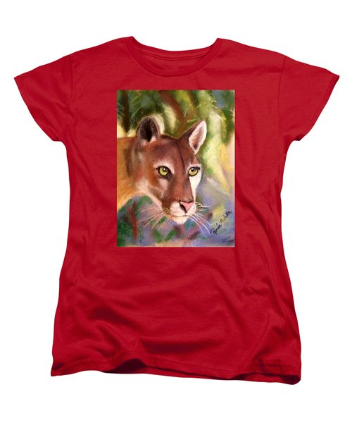 Florida Panther Women's T-Shirt (Standard Cut) by Renee Michelle Wenker