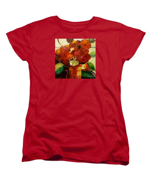 Women's T-Shirt (Standard Cut) featuring the painting Flower Vase No. 3 by Michelle Abrams