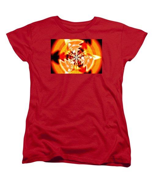 Women's T-Shirt (Standard Cut) featuring the drawing Flower Vectors Of Life by Derek Gedney