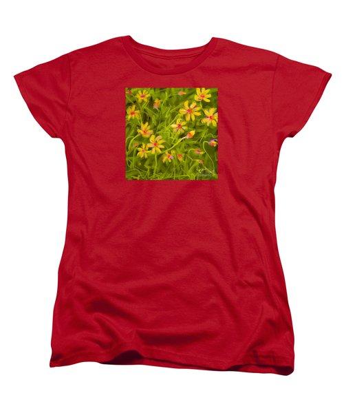 Women's T-Shirt (Standard Cut) featuring the painting Flowerfield by Go Van Kampen