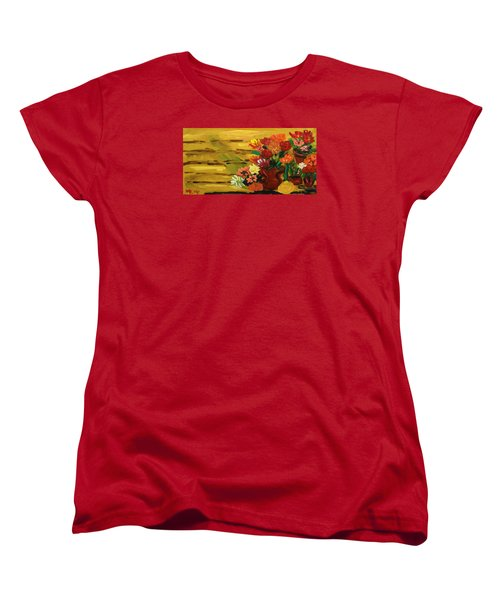 Flowers At The Side Of The House Women's T-Shirt (Standard Cut) by Mary Carol Williams