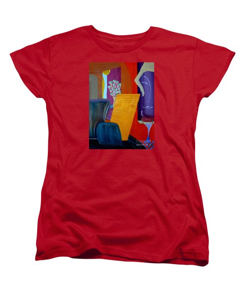 Women's T-Shirt (Standard Cut) featuring the painting Flowers For Matisse by Bill OConnor