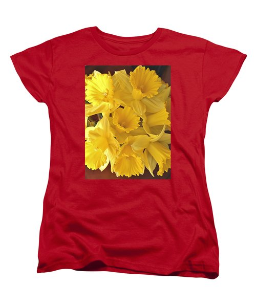 Women's T-Shirt (Standard Cut) featuring the photograph Flurry Of Daffodils by Diane Alexander