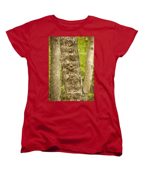 Women's T-Shirt (Standard Cut) featuring the photograph Fluted Tree by Carol Lynn Coronios