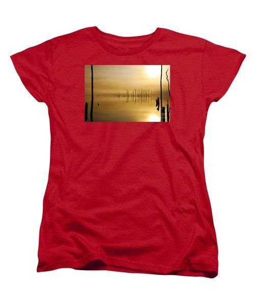 Foggy Rise Women's T-Shirt (Standard Cut) by Roger Becker