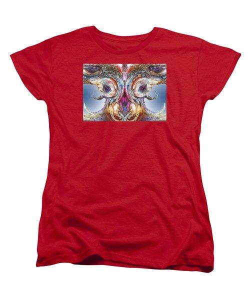 Women's T-Shirt (Standard Cut) featuring the digital art Fomorii Incubator Remix by Otto Rapp