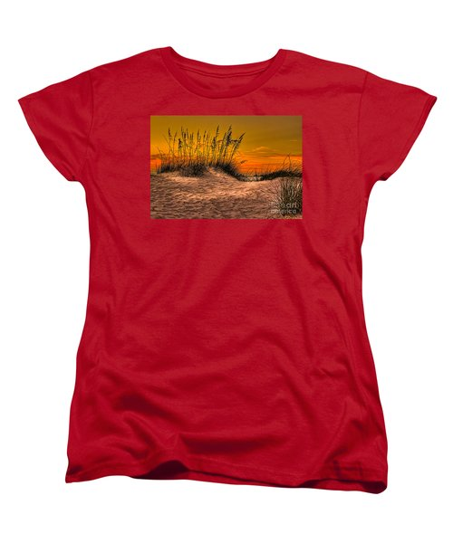 Footprints In The Sand Women's T-Shirt (Standard Cut) by Marvin Spates
