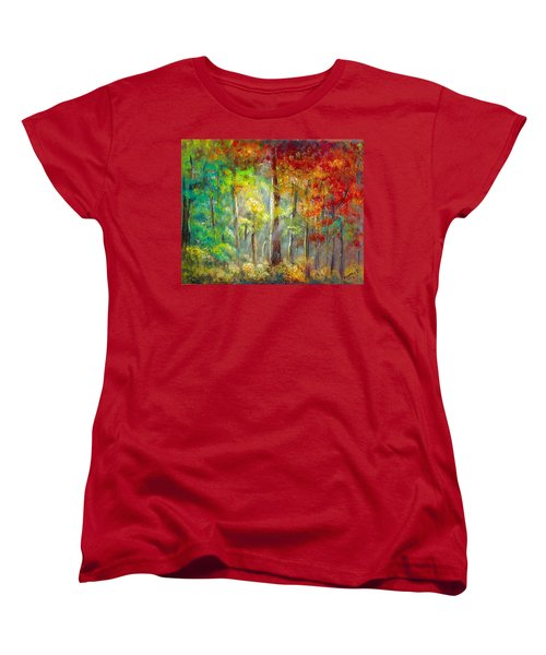 Forest Women's T-Shirt (Standard Cut) by Bozena Zajaczkowska