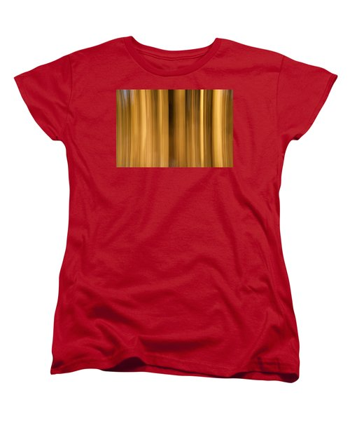 Women's T-Shirt (Standard Cut) featuring the photograph Abstract Forest by Davorin Mance
