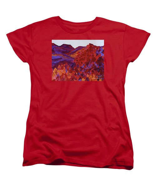 Women's T-Shirt (Standard Cut) featuring the painting Forest Fantasy By Jrr by First Star Art