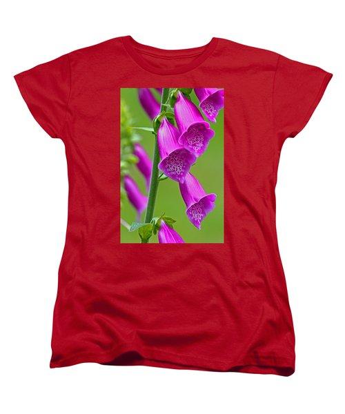 Foxglove Digitalis Purpurea Women's T-Shirt (Standard Cut) by Tony Murtagh