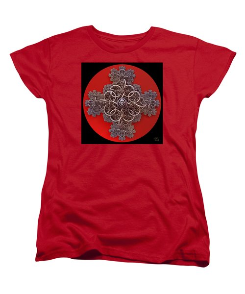 Fractal Cruciform Women's T-Shirt (Standard Cut) by Manny Lorenzo