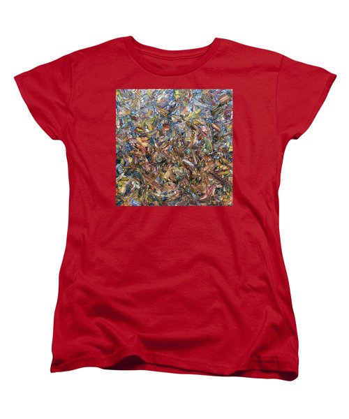 Women's T-Shirt (Standard Cut) featuring the painting Fragmented Fall - Square by James W Johnson