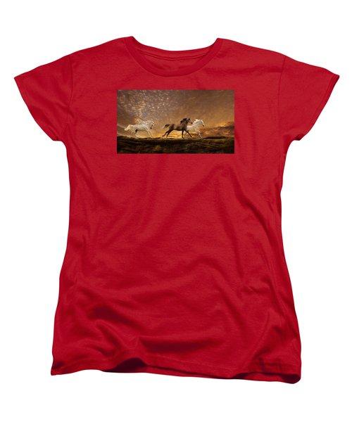Freed Spirits Women's T-Shirt (Standard Cut) by Melinda Hughes-Berland