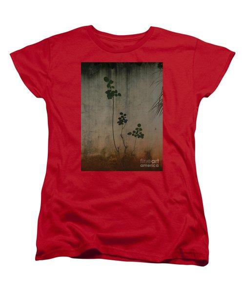 Friendless Rose Bush Women's T-Shirt (Standard Cut) by Mini Arora
