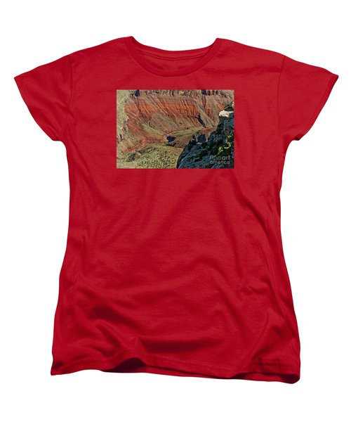 Women's T-Shirt (Standard Cut) featuring the photograph From Yaki Point 5 Grand Canyon by Bob and Nadine Johnston