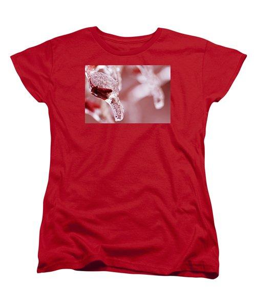 Women's T-Shirt (Standard Cut) featuring the photograph Frozen Jewel  by Debbie Oppermann