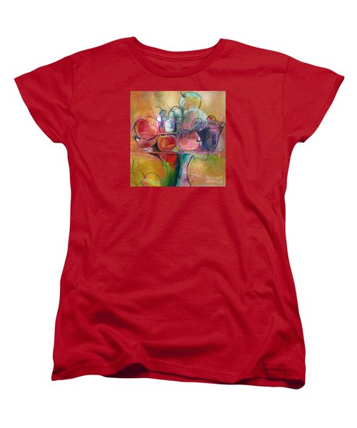 Women's T-Shirt (Standard Cut) featuring the painting Fruit Bowl No.1 by Michelle Abrams