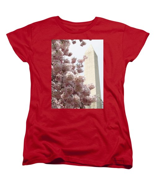 Women's T-Shirt (Standard Cut) featuring the photograph Full Bloom In Dc by Jennifer Wheatley Wolf