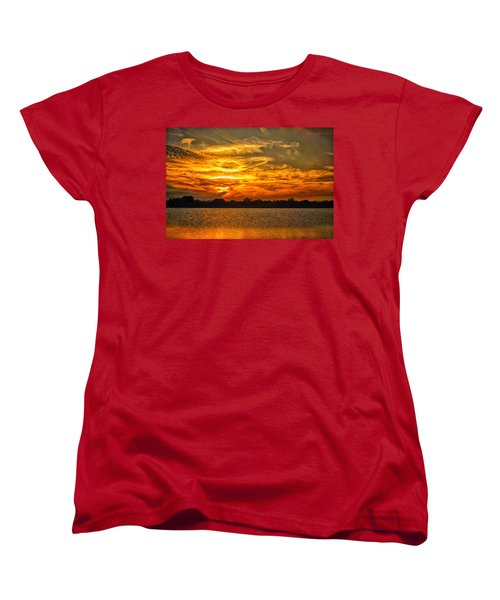 Galveston Island Sunset Dsc02805 Women's T-Shirt (Standard Cut) by Greg Kluempers