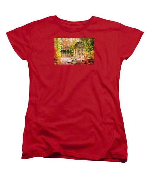 Women's T-Shirt (Standard Cut) featuring the photograph Garden Of Beauty by Trina  Ansel