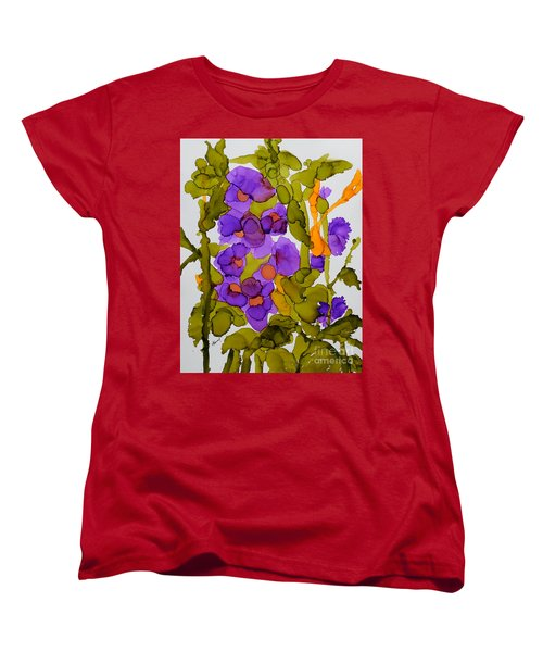 Garden Of Hollyhocks Women's T-Shirt (Standard Cut) by Vicki  Housel