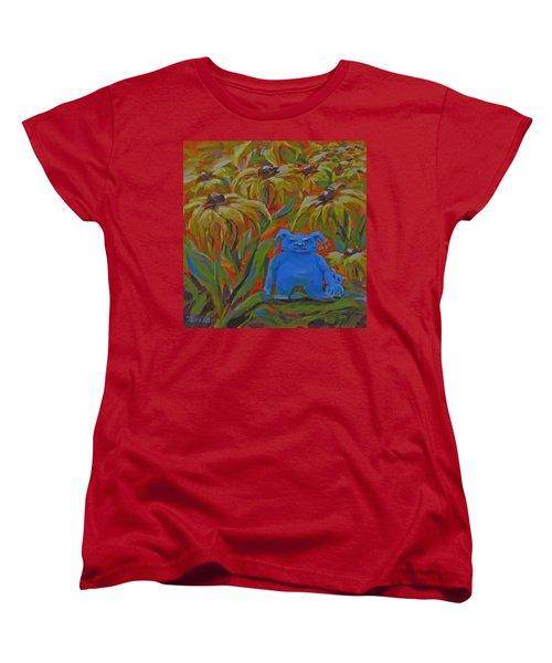 Women's T-Shirt (Standard Cut) featuring the painting Garden Secrets by Karen Ilari