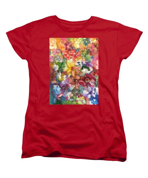 Garden - The Secret Life Of The Leftover Paint Women's T-Shirt (Standard Cut) by Anna Ruzsan
