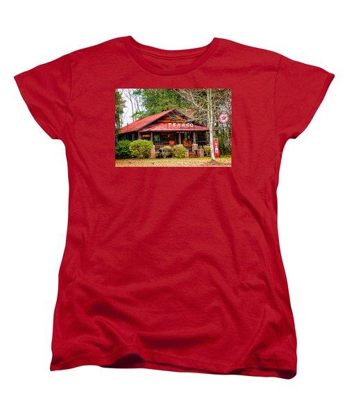 Women's T-Shirt (Standard Cut) featuring the photograph Gas Station 1 by Dawn Eshelman