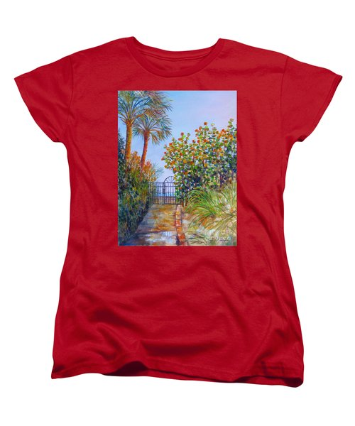 Gateway To Paradise Women's T-Shirt (Standard Cut) by Lou Ann Bagnall