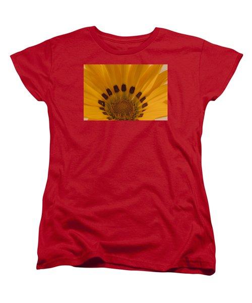 Women's T-Shirt (Standard Cut) featuring the photograph Gazania Stamen Macro by Sandra Foster