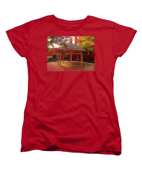 Women's T-Shirt (Standard Cut) featuring the photograph Gazebo In Pink by Becky Lupe