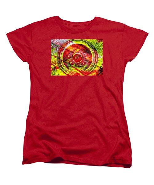 Geometric Colors  Women's T-Shirt (Standard Cut) by Prakash Ghai