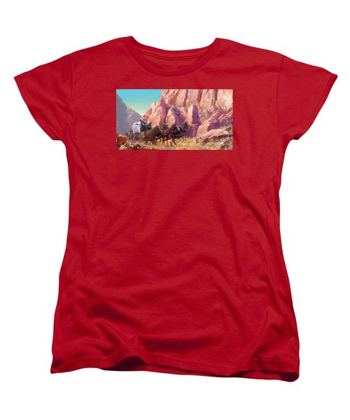 Women's T-Shirt (Standard Cut) featuring the painting Gett'en Through by Rob Corsetti