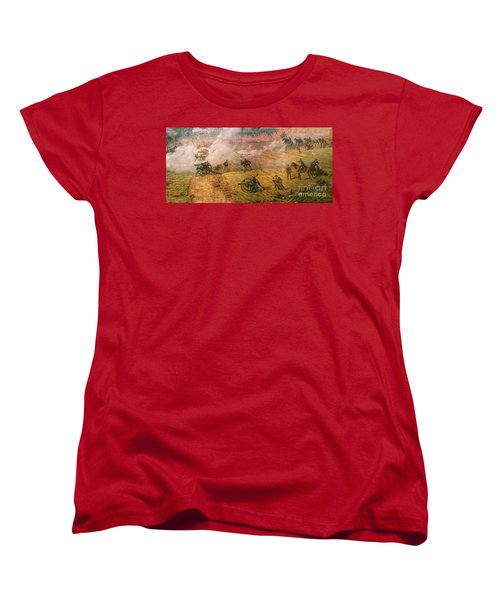 Gettysburg Cyclorama Detail One Women's T-Shirt (Standard Cut) by Randy Steele