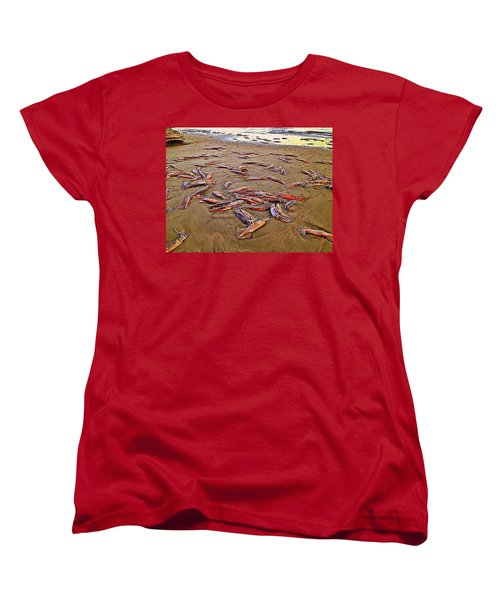 Women's T-Shirt (Standard Cut) featuring the photograph Giant Squid Capitola Beach by Antonia Citrino