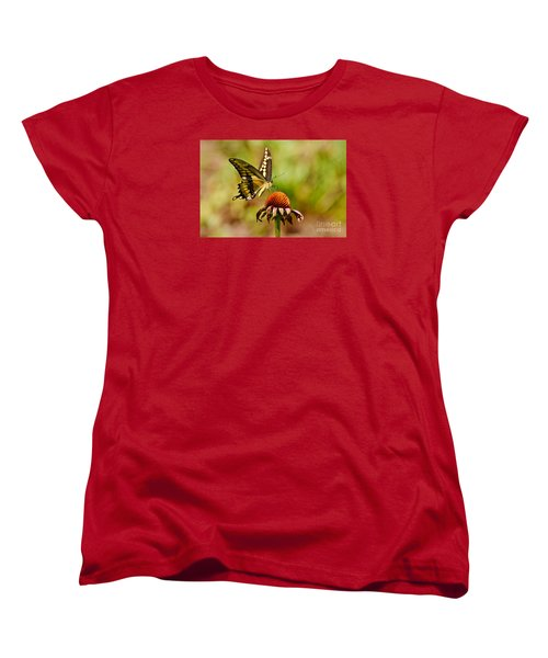 Giant Swallowtail Butterfly Women's T-Shirt (Standard Cut) by Kathy Baccari