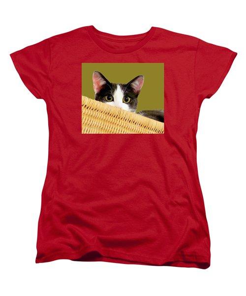 Women's T-Shirt (Standard Cut) featuring the photograph Girlie Cat  by Janette Boyd
