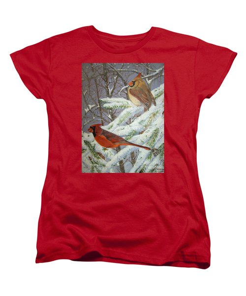 Give Her Wings To Fly Women's T-Shirt (Standard Cut) by Brenda Brown