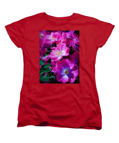 Glorious Blooms Women's T-Shirt (Standard Cut) by Lucinda Walter