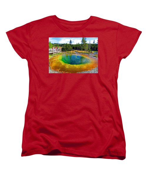 Glory Pool Yellowstone National Park Women's T-Shirt (Standard Cut) by Ausra Huntington nee Paulauskaite