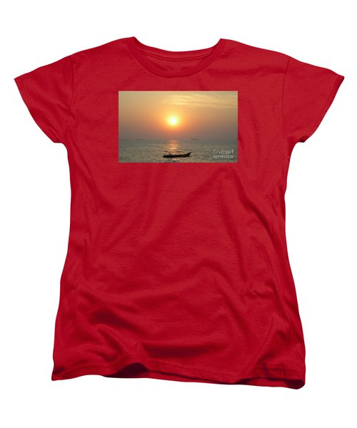 Goa Sunset Women's T-Shirt (Standard Cut) by Mini Arora