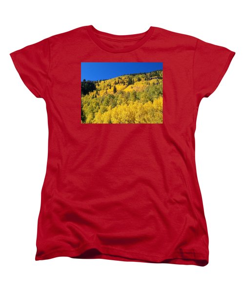 Women's T-Shirt (Standard Cut) featuring the photograph Going Gold by Fortunate Findings Shirley Dickerson