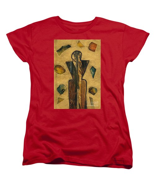 Gold Black Male Gems Women's T-Shirt (Standard Cut) by Patricia Cleasby