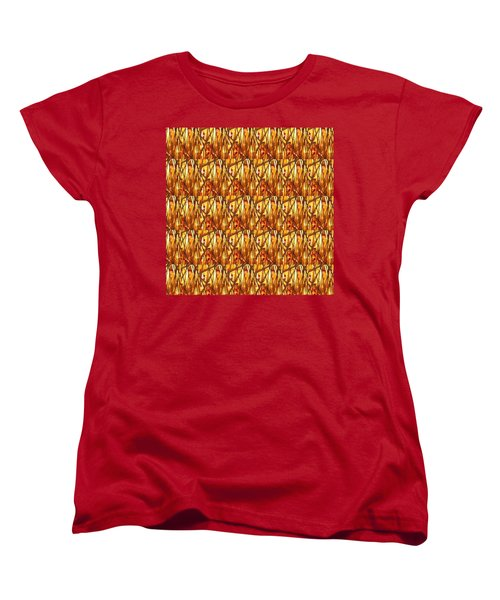Women's T-Shirt (Standard Cut) featuring the photograph Gold Strand Sparkle Decorations by Navin Joshi